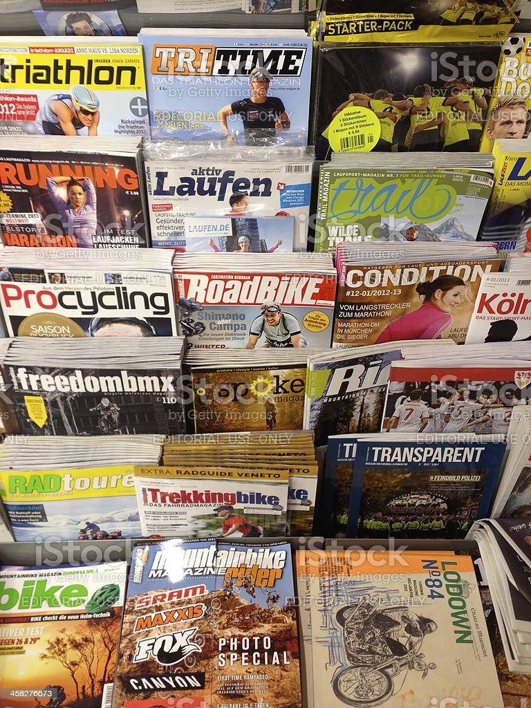 sport magazines stock photo