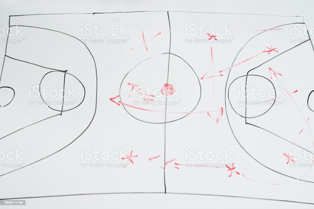 Sport management. Searching tactic and strategies. stock photo