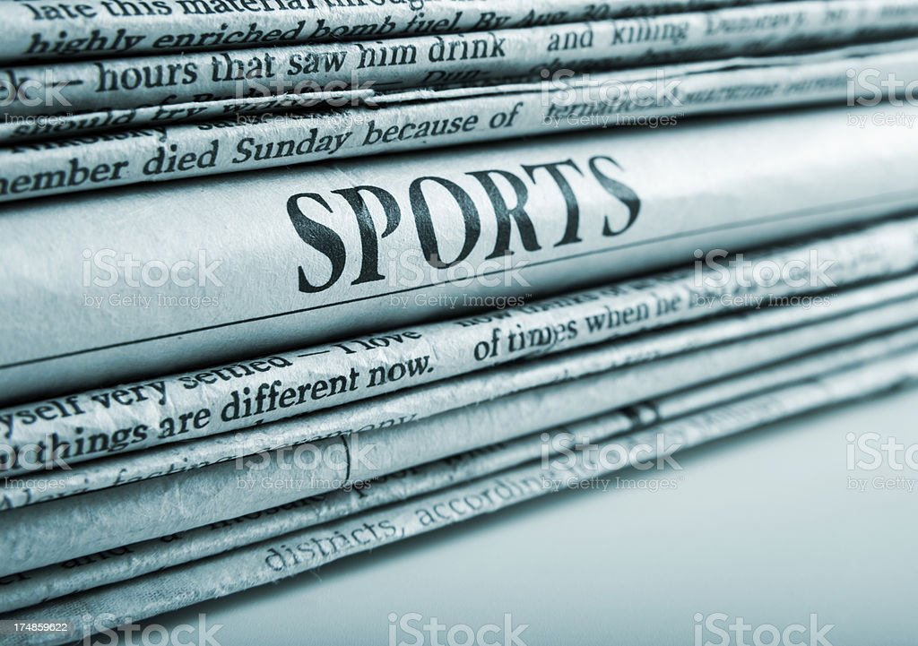 sport news stock photo