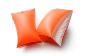 スポーツ: オレンジ色の水翼は、白い背景で隔離