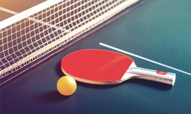 sport. - rakietka do tenisa stołowego zdjęcia i obrazy z banku zdjęć