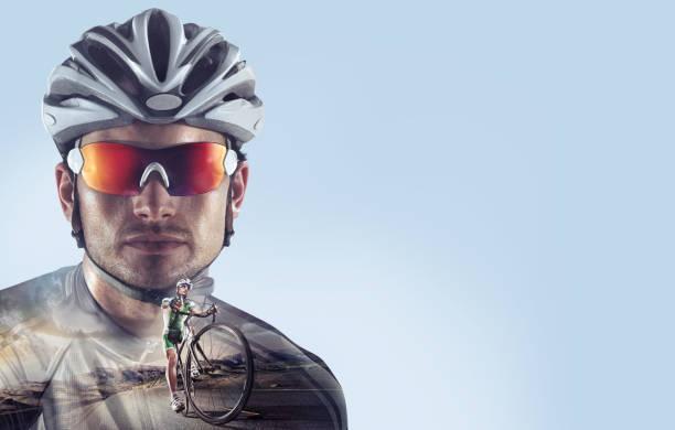 Deporte. Retrato de ciclista profesional. - foto de stock