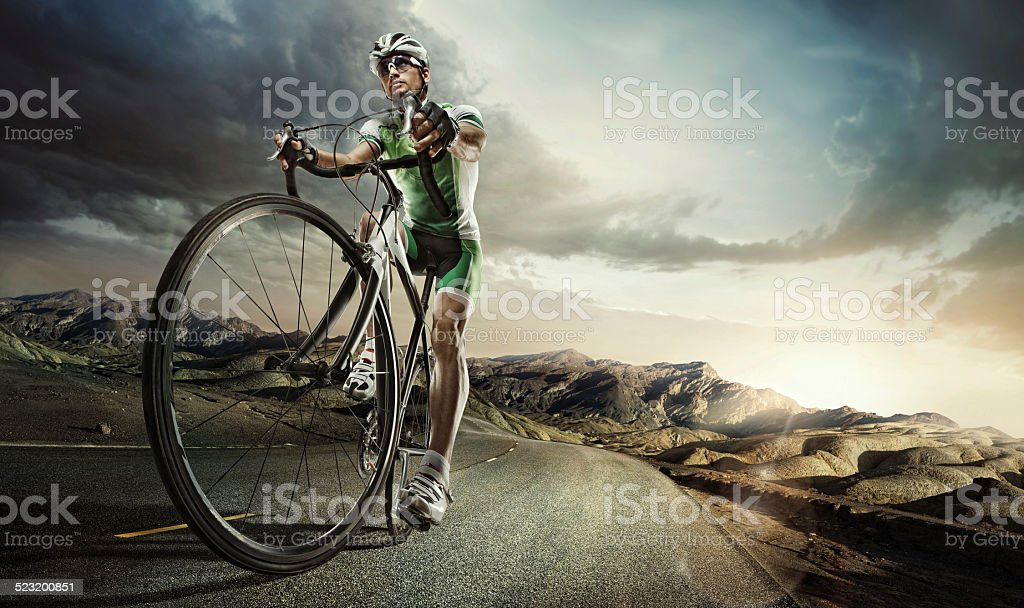 Sport. Road cyclist. stock photo