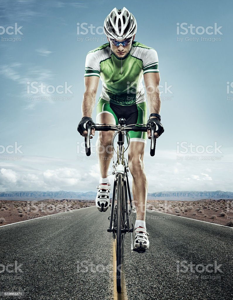 Sport. Road cyclist stock photo