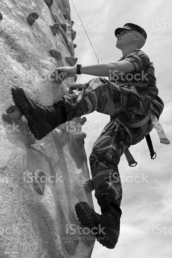 Sport Rock Vertical BW royalty-free stock photo