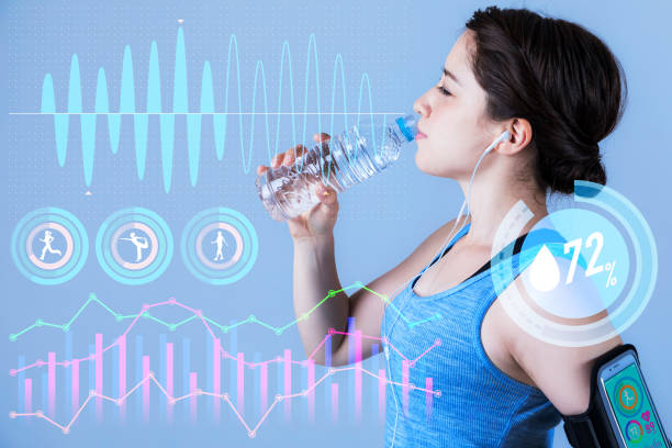 sport science and information technology concept. stock photo