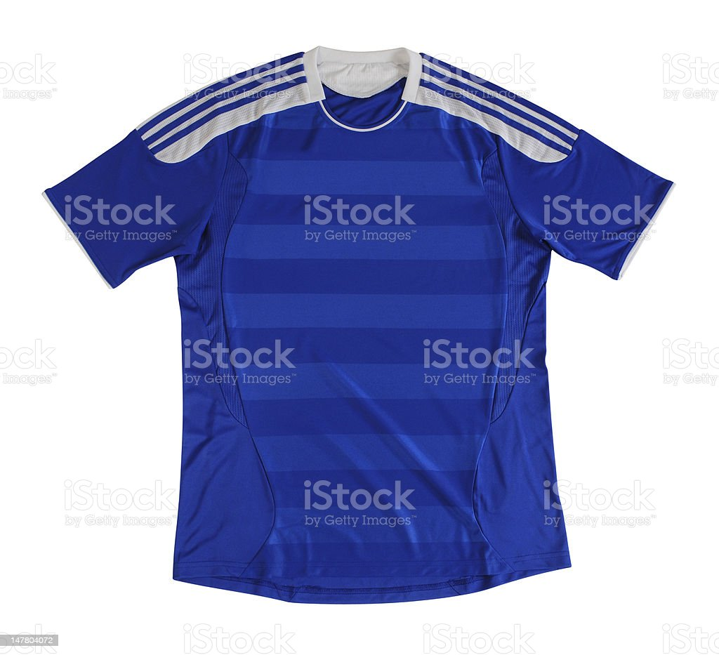 Sport shirt. Clipping path royalty-free stock photo