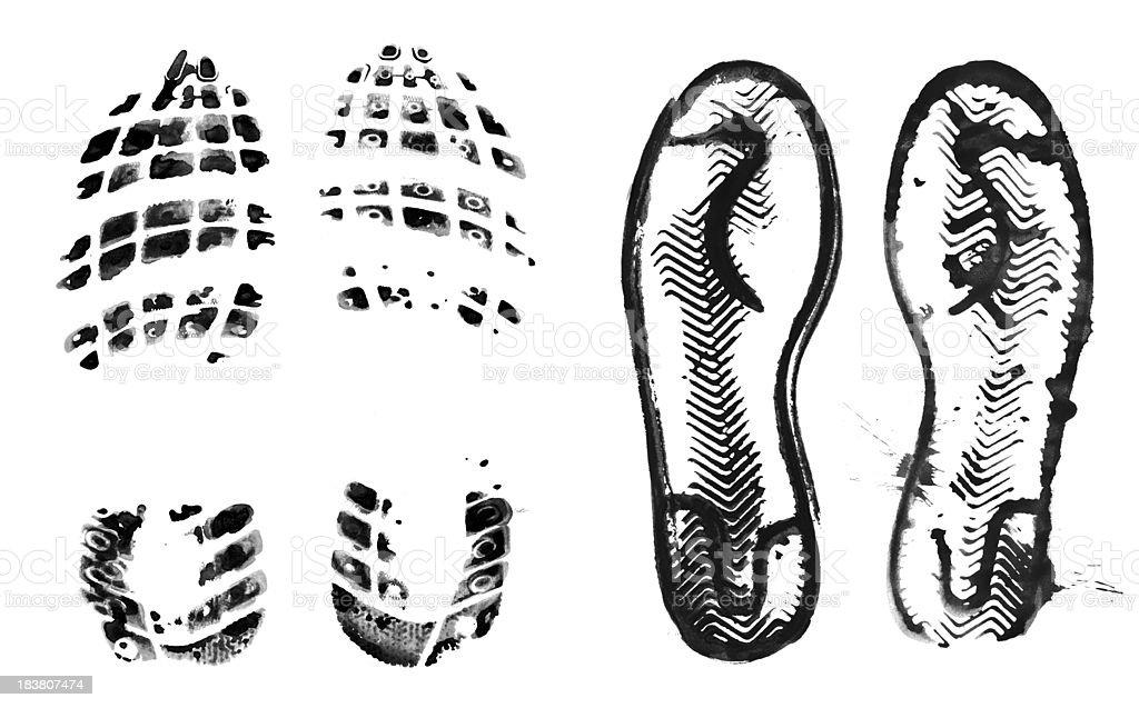 Sport Shoe print stock photo