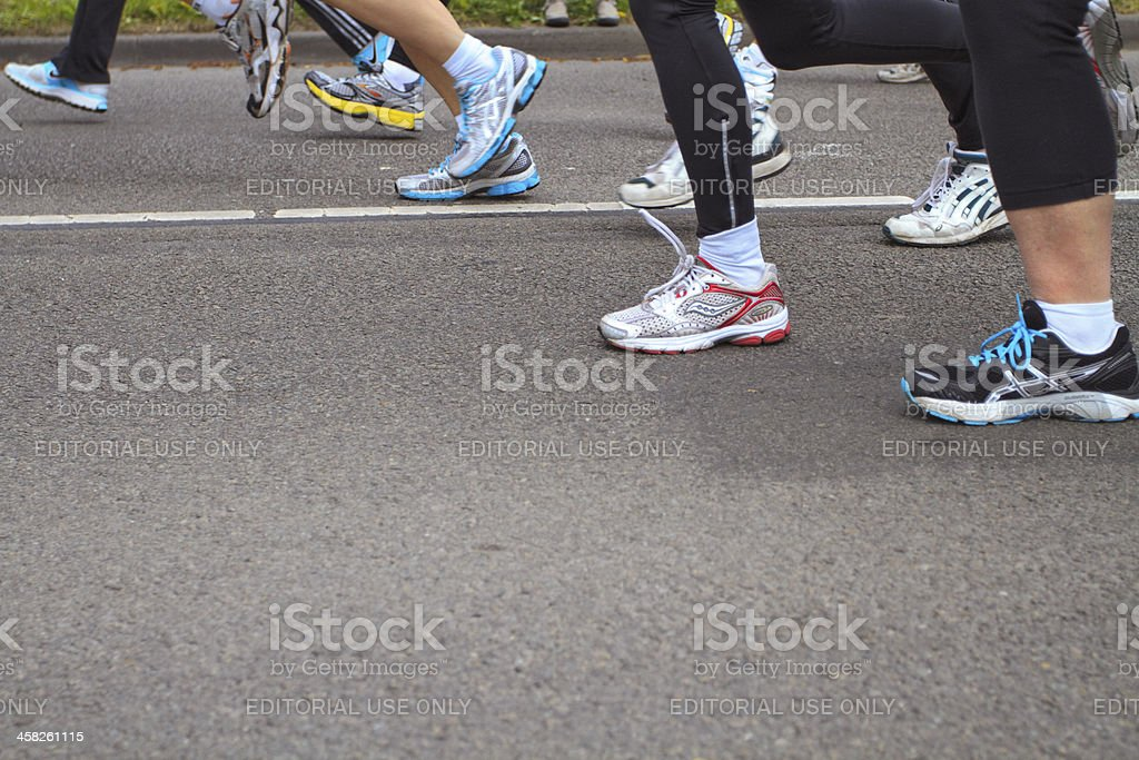 Sport shoes and legs royalty-free stock photo
