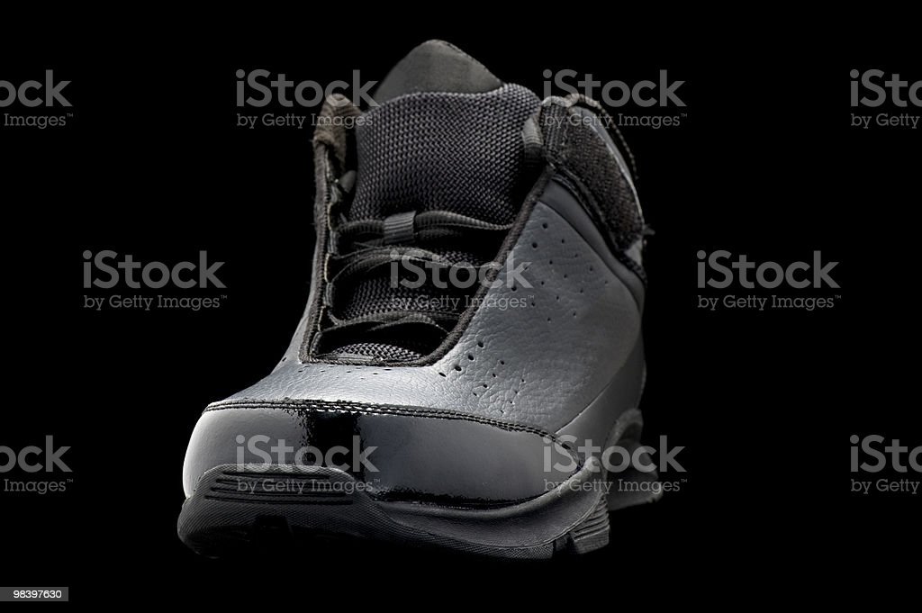 Sport shoes on black macro royalty-free stock photo