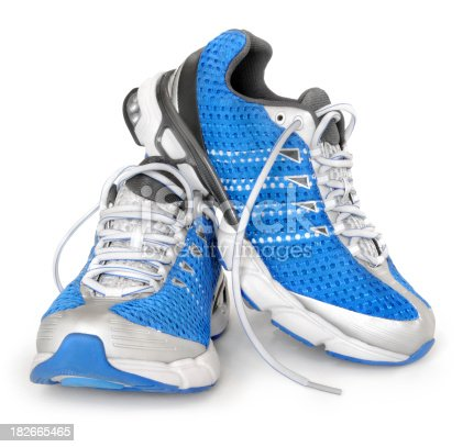 Sport shoes. Isolated on white.