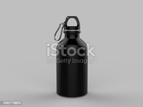 Sport sipper bottles for water isolated on grey background for mock up and template design.