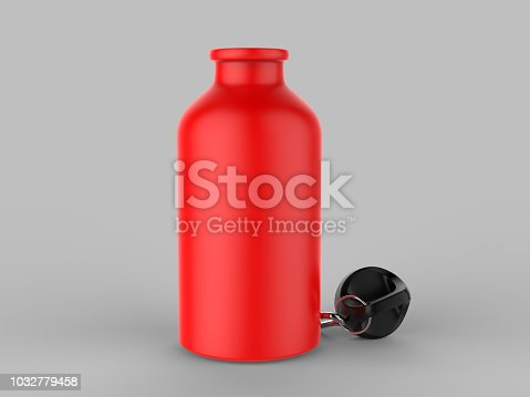 852024650istockphoto Sport sipper bottles for water isolated on grey background for mock up and template design. White blank bottle 3d render illustration. 1032779458