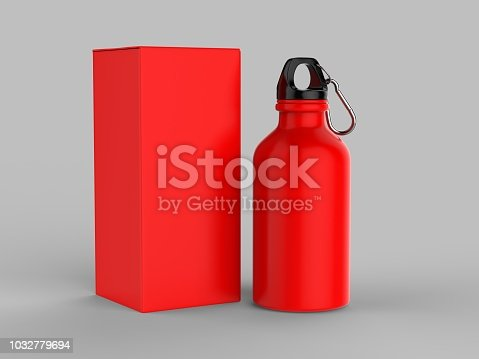 852024650istockphoto Sport sipper bottles for water isolated on grey background for mock up and template design. White blank bottle 3d render illustration. 1032779694