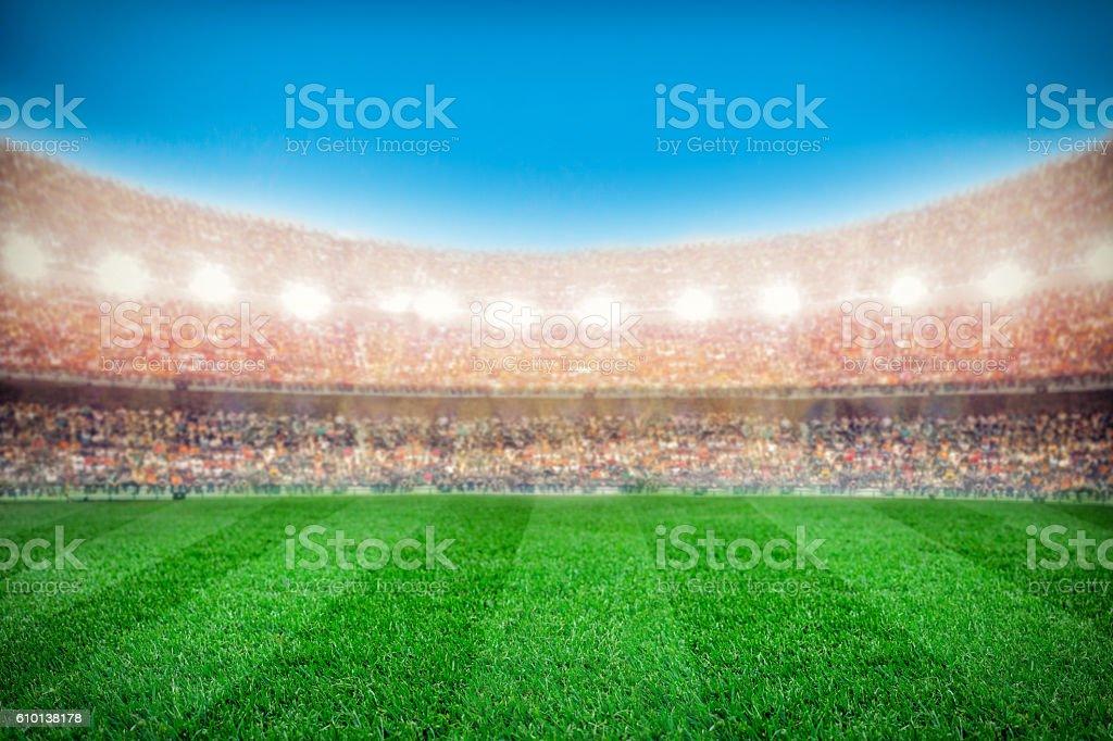 sport stadium background stock photo