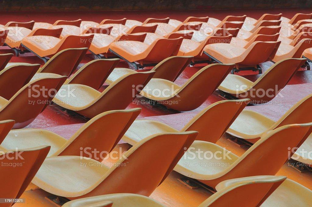 sport stadium seats royalty-free stock photo