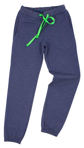 sport jogginghose, isoliert auf weißem hintergrund - sweatpants stock-fotos und bilder