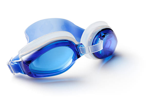 Sport: Swiming Goggles Isolated on White Background stock photo