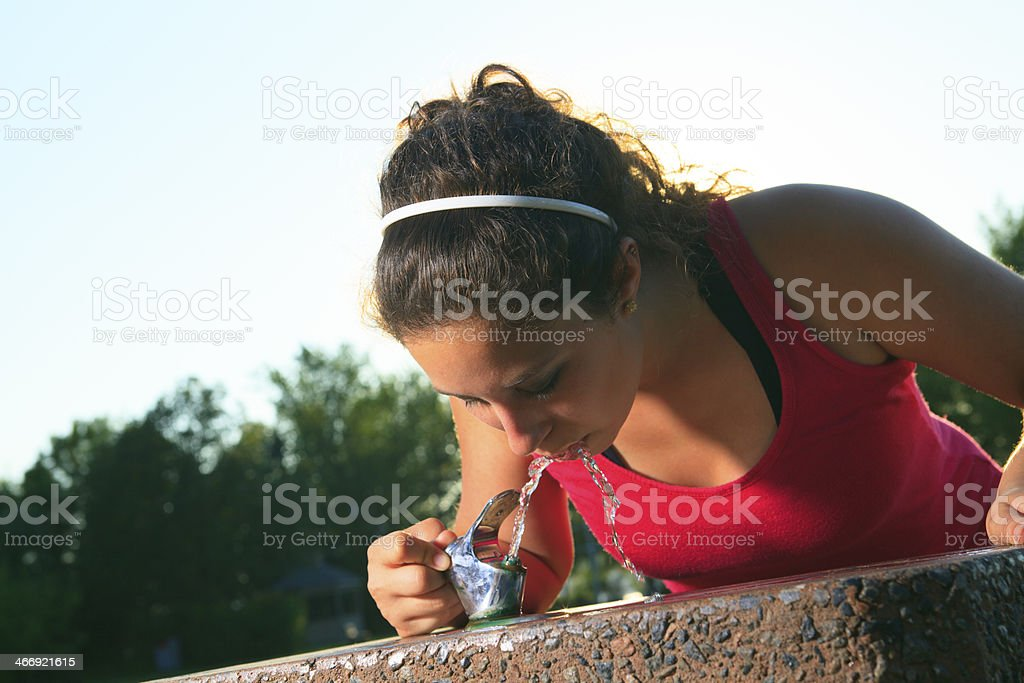 Sport Woman - Drinking Water royalty-free stock photo