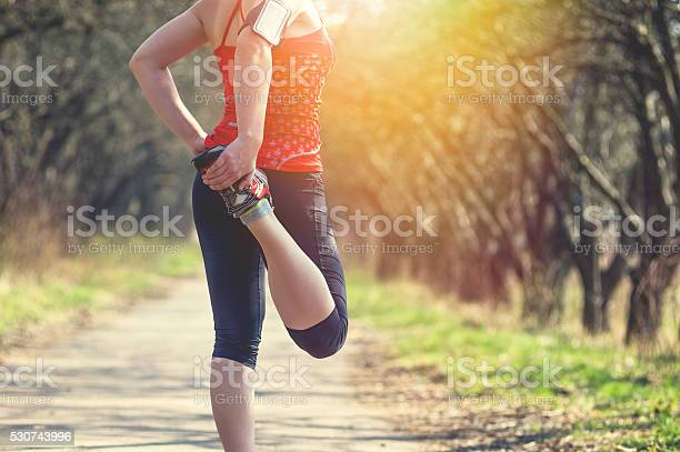 Photo of Sport woman jogging outside in morning