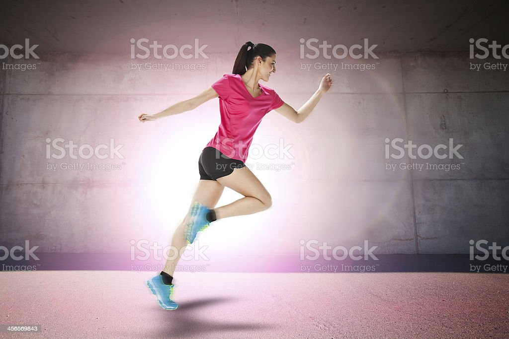 Correr a partir de deporte mujer - Foto de stock de Actividad libre de derechos