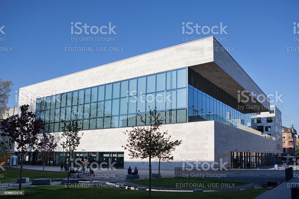 Sporthalle Platz der Deutschen Einheit, Wiesbaden stock photo