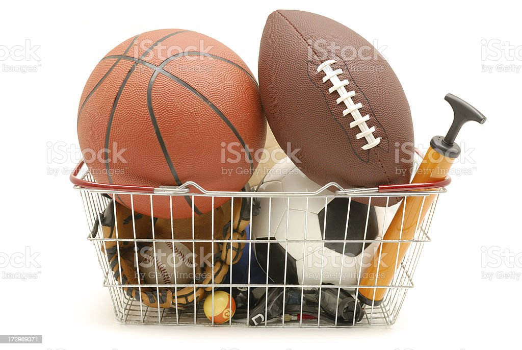 sporting basket stock photo