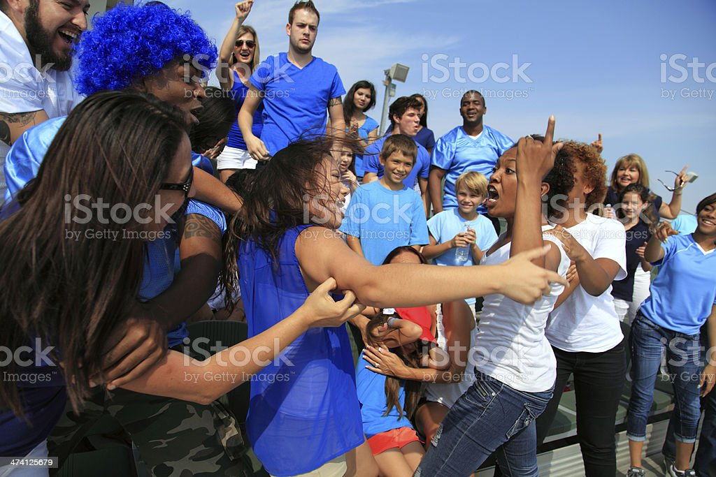 Sporting Event Fight stock photo