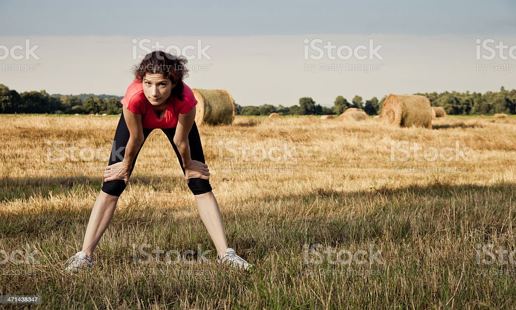 Sporting girl royalty-free stock photo