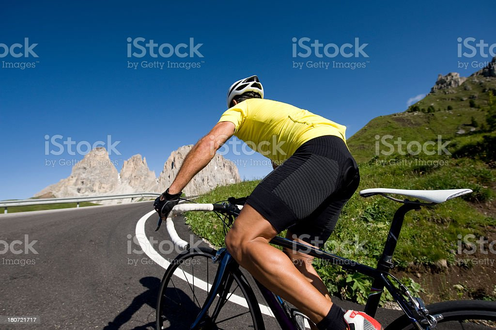 Sportlichen Mann auf einem Wettkampf Rad – Foto