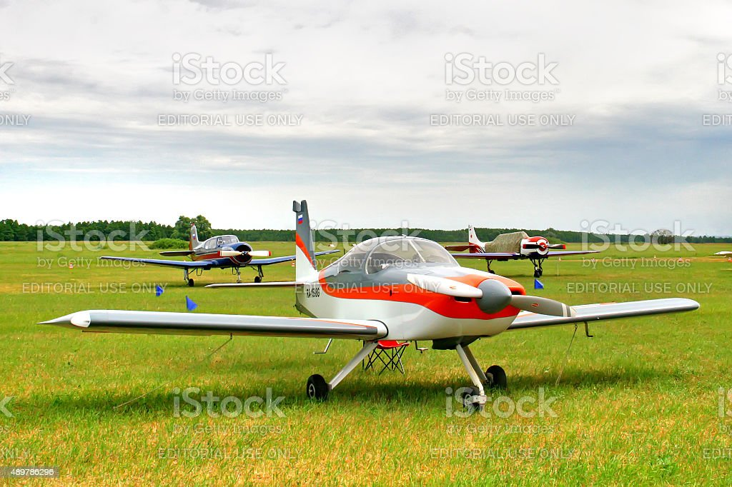 Sportive plane stock photo