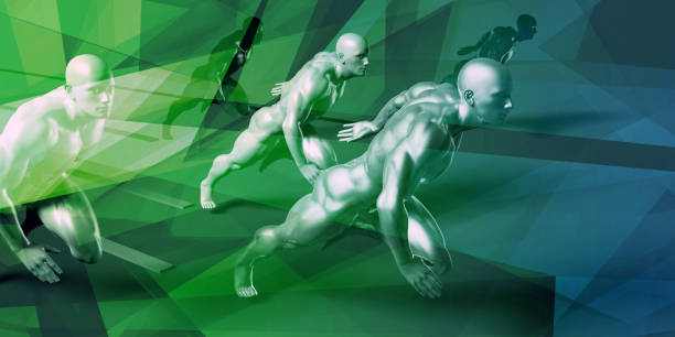 Sports Abstract Background stock photo