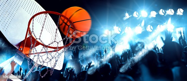 istock Sports and entertainment. Basketball and team sports. 1097866838