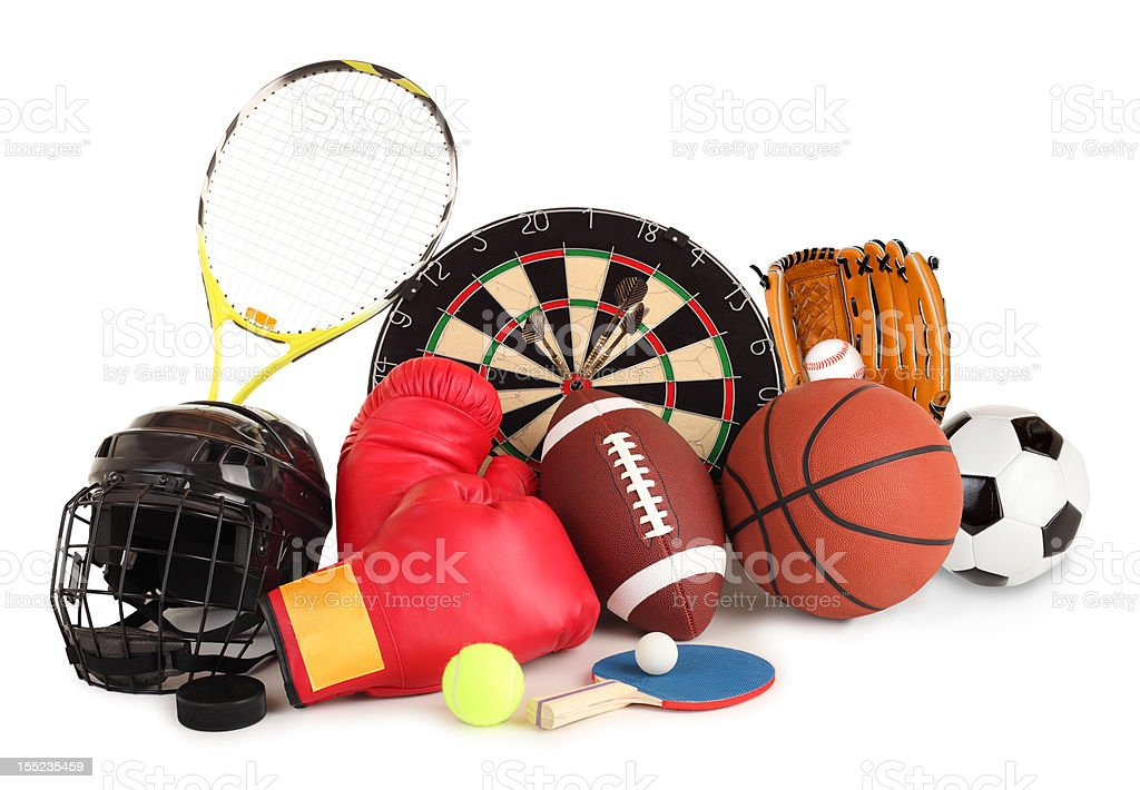 Sports and Games Arrangement royalty-free stock photo