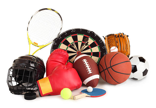 Sports and Games Arrangement stock photo