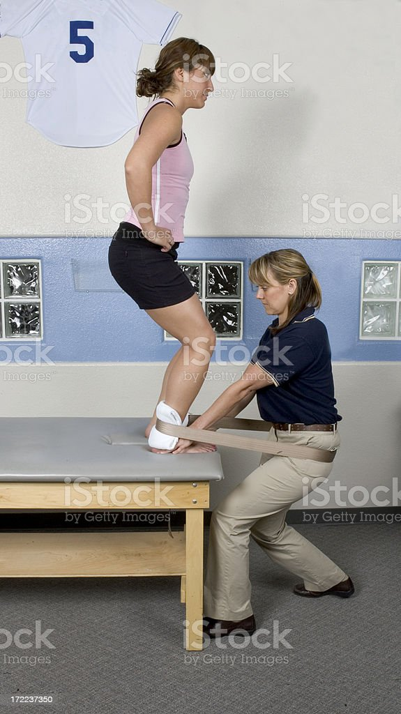 Sports Ankle Therapy Massage royalty-free stock photo