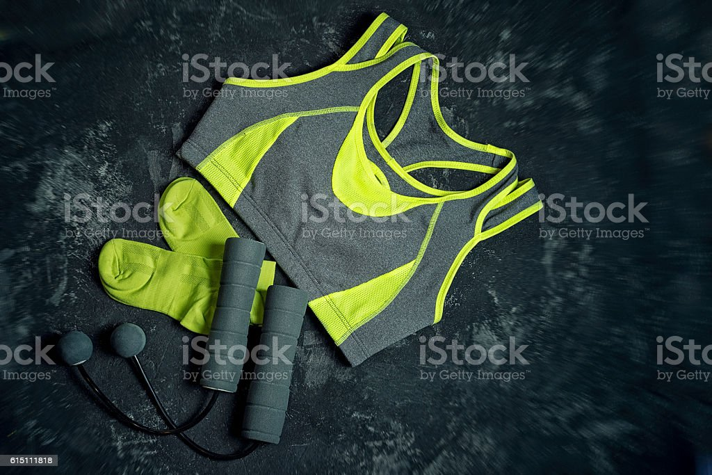 Sports apparel stock photo