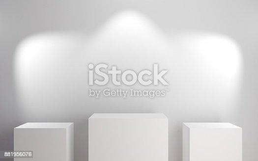 istock Sports award podiums 881956076