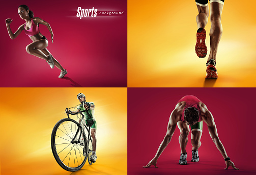 istock Sports background. Cyclist and runner 511015548