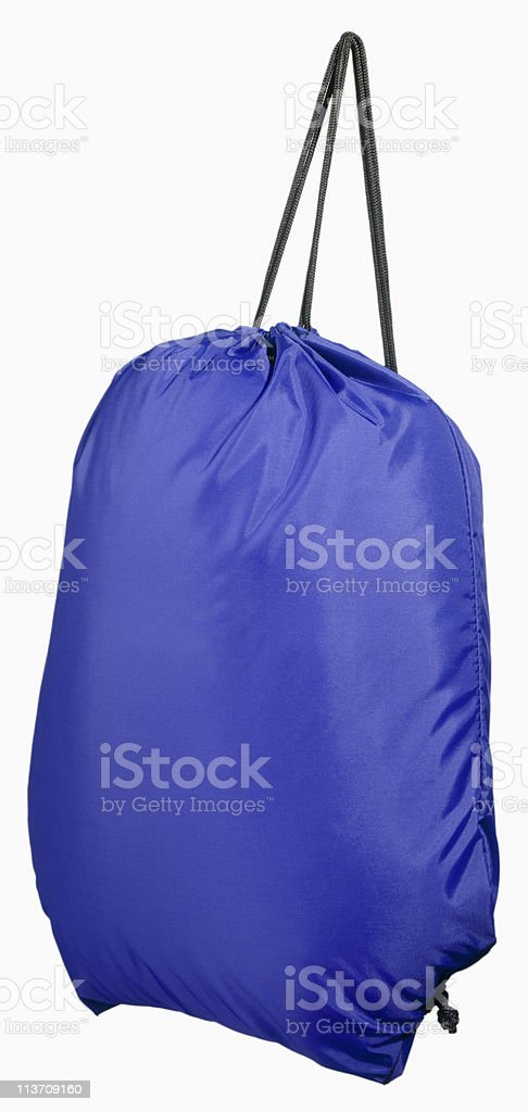 sports bag cut out on white stock photo