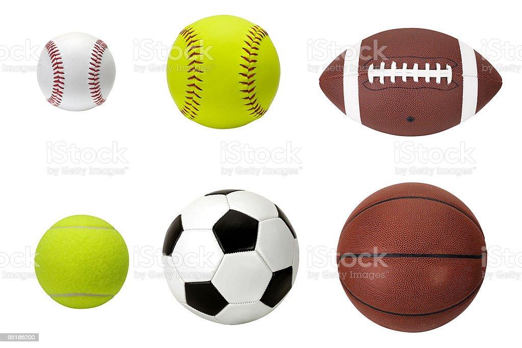 Sports Balls Baseball Softball Football Tennis Soccer Basketball Stock Photo Download Image Now Istock