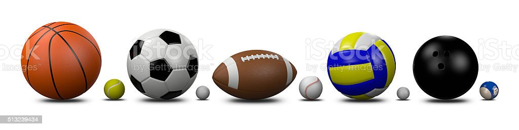 Sports Balls Collection stock photo