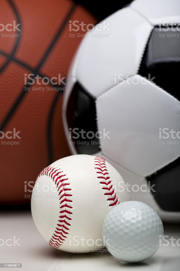 Sports Balls on Black royalty-free stock photo