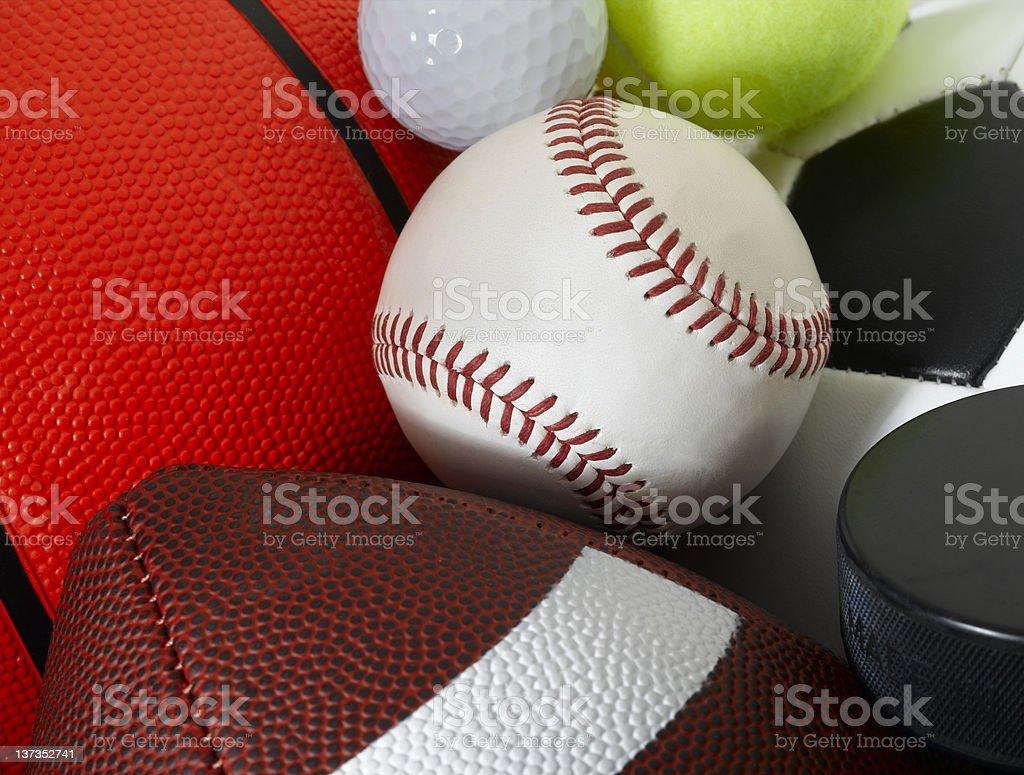 Sports Balls royalty-free stock photo