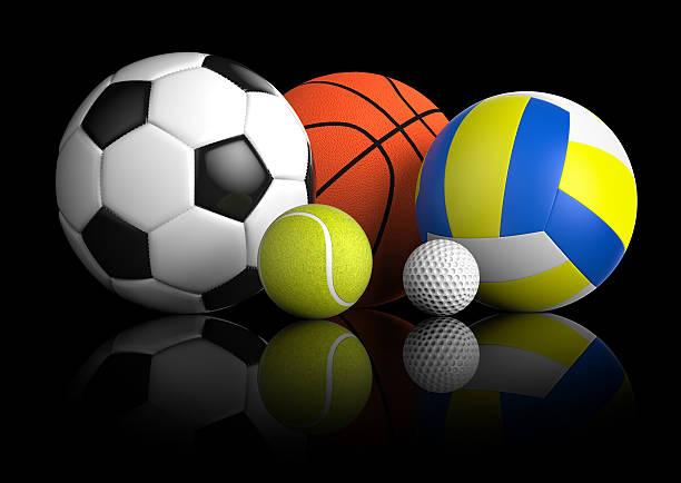 sfere di sport - set tennis o pallavolo foto e immagini stock