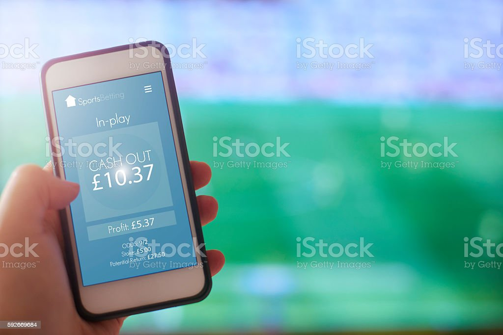 Sports Bet Cash Out stock photo
