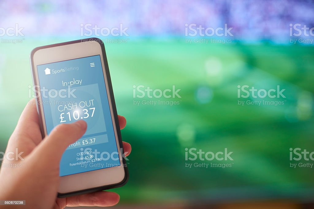 Sports Betting App stock photo