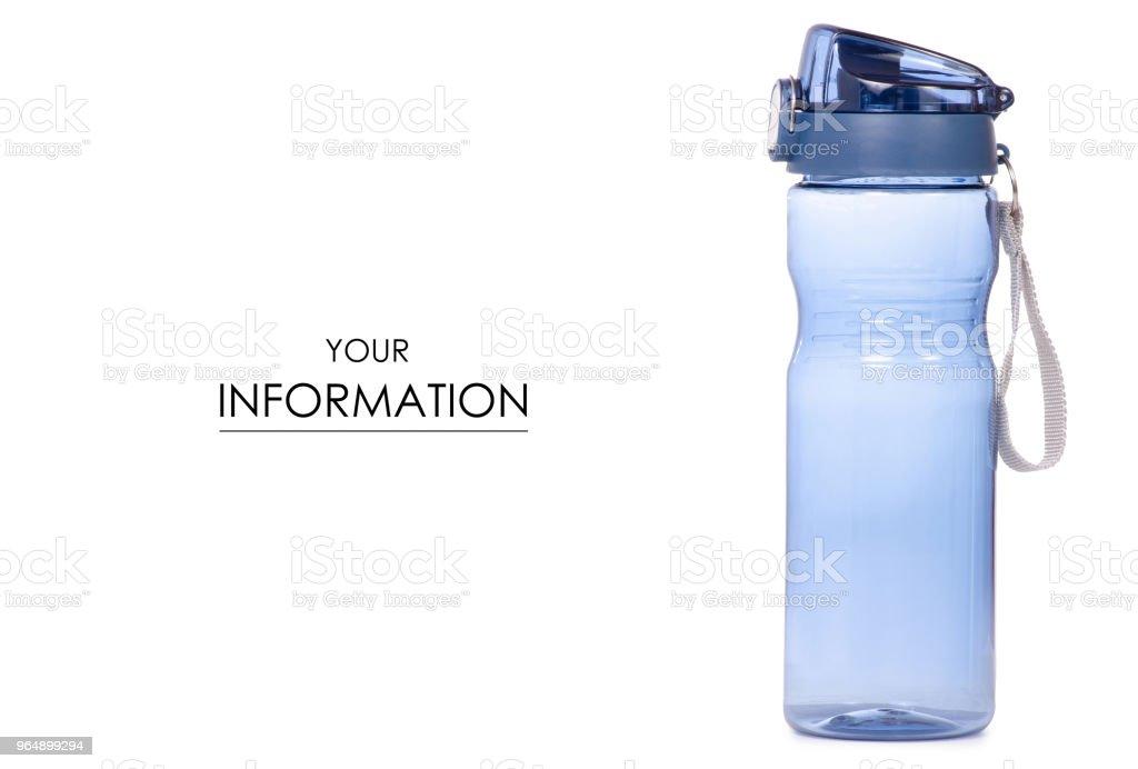 運動瓶藍色圖案 - 免版稅一個人圖庫照片