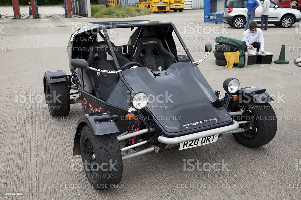 Sports buggy at autocross rally event stock photo