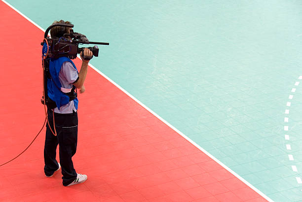Sports Cameraman stock photo